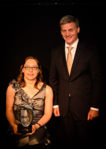 Catherine Pot, Rt Hon Bill English. WELLINGTON, NEW ZEALAND - March 21: Prime Ministers Science Prizes March 21, 2017 Parliament in Wellington, New Zealand. (Photo by Mark Tantrum / http://marktantrum.com)